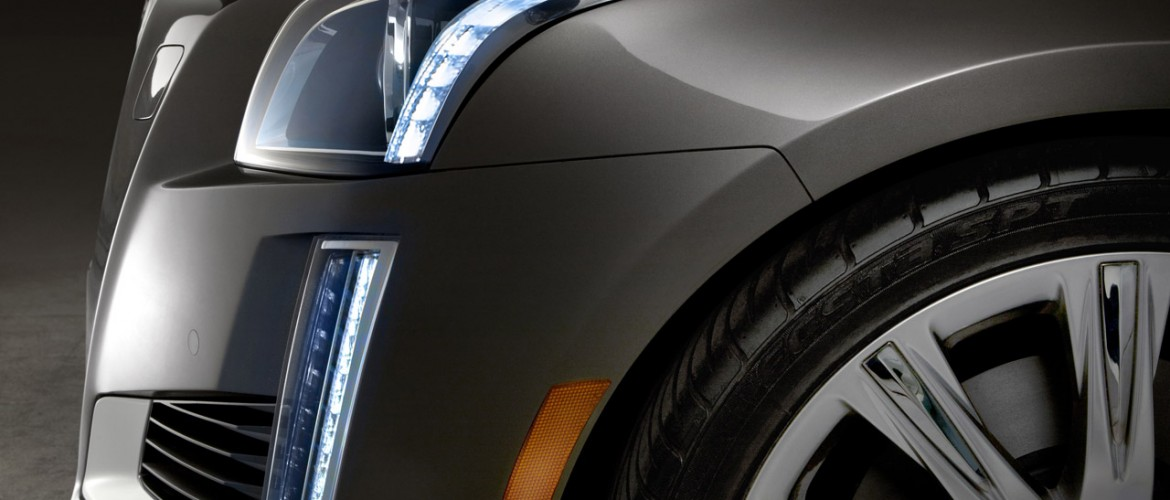 The all-new 2014 Cadillac CTS midsize luxury sedan will go sale in the fall, 2013. Cadillac's signature bold vertical lighting elements – including LED front signature lighting detail – evolve with headlamps that flow up and with the hood line.