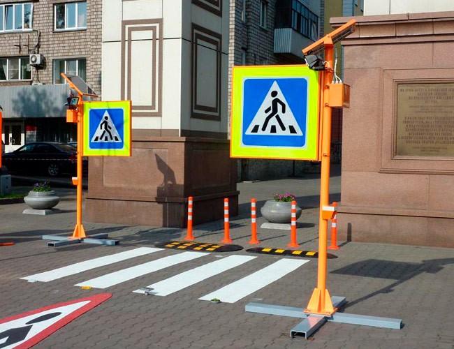 Как правильно установить дорожный знак пешеходный переход